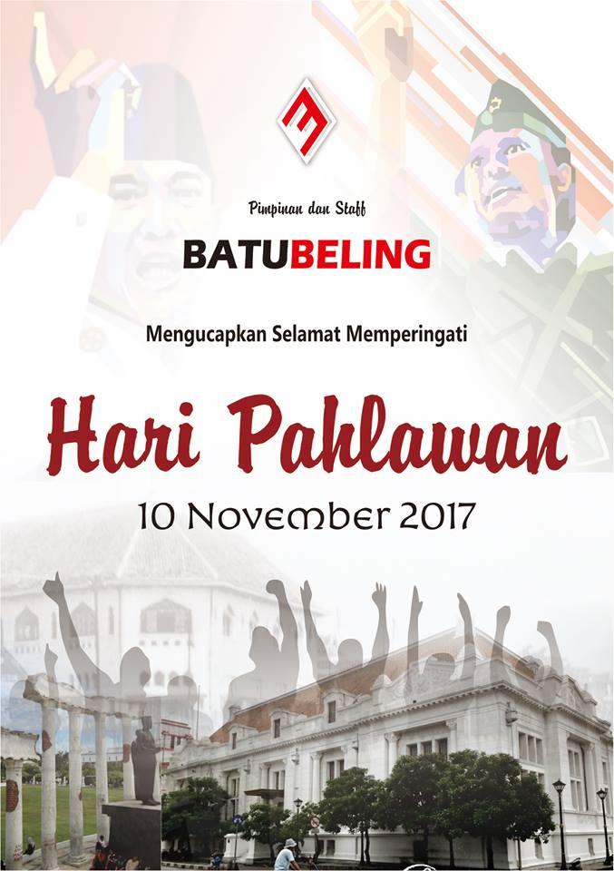 Selamat Hari Pahlawan Surabaya 10 Nopember 2017